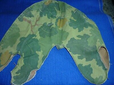 Original Vietnam War U.S. Army  M-1 Helmet Camouflage Cover Two Sided QM Stamped