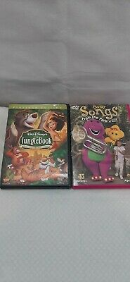 Walt Disney the JUNGLE BOOK set of two and Barney Songs from The park.