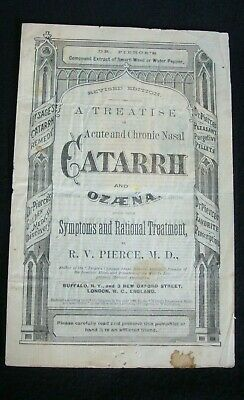 1880 Dr. Pierce's Compound Extract Smart-Weed Water Pepper Catarrh  Ozaena Bookl
