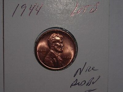 wheat penny 1944 LINCOLN CENT RED CH BU 1944-P NICE RED CH UNC DETAILS LOT #B