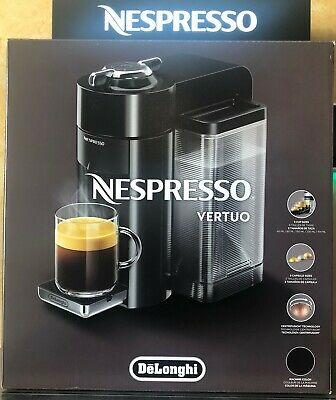 De'Longhi 1350 W Nespresso Vertuo Coffee and Espresso Machine Black ENV135B NEW