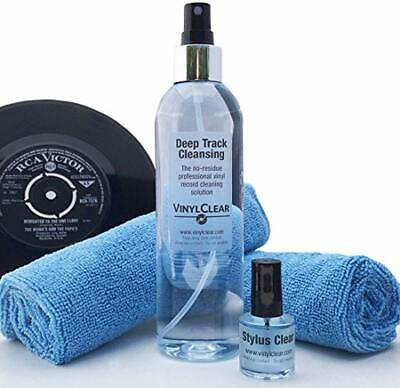 Vinyl LP Record Cleaner Kit - by Vinyl Clear. 250ml Premium Quality Record Clean