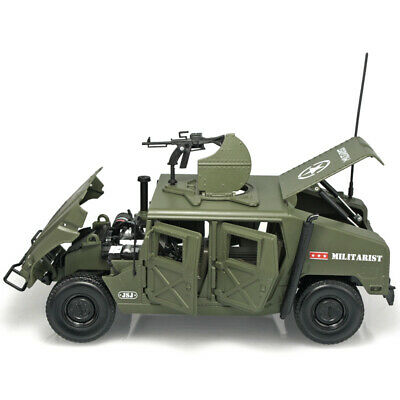 1:18 Diecast Alloy Hummer Model Toys Car Hummer H1 Military SUV Tactical Vehicle