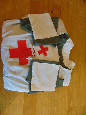 1940s style red cross nurse uniform costume made to order ANY SIZE AVAILABLE