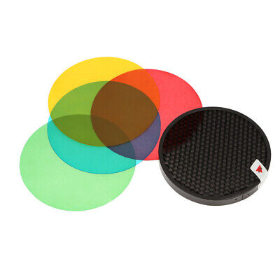 Godox AD-S11 Color Filter Gel Pack with Honeycomb Grid Cover Reflector Kit P5P9