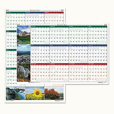 House of Doolittle 3931 Earthscapes Nature Scene Reversible/Erasable Yearly W...
