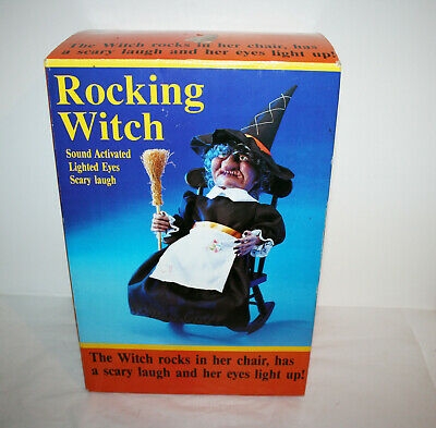 Terrific 51 In Animated Witch In Rocking Chair 150 51 Picclick Machost Co Dining Chair Design Ideas Machostcouk