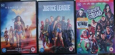 DC X 3 WONDER WOMAN, JUSTICE LEAGUE and SUICIDE SQUAD DVDS + Digital Codes