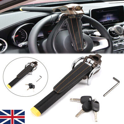 Anti Theft Lock Car Vehicle Top Mount Steering Wheel Security Airbag + 3 Keys UK