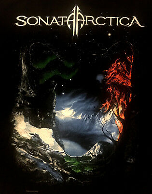 SONATA ARCTICA cd lgo THE DAYS OF GRAYS Official 2009 TOUR SHIRT LAST MD New oop