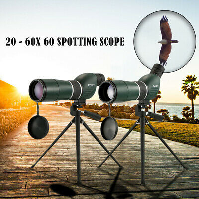 20-60x60 Straight / Angled Spotting Scope with Tripod Portable Travel Scope Y3A7