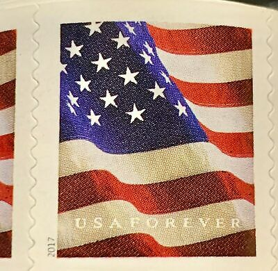 USPS US Flag 2018 First Class Rate Forever Stamps - Roll of 100