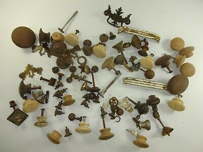 Antique Vintage Mixed Lot of Old Drawer Cabinet Pulls Parts & Similar 3 lbs Auc3