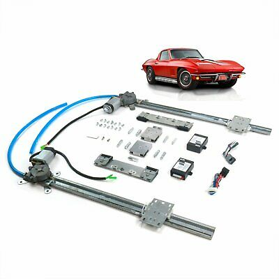 Chevy Corvette 1963-67 2 Door One Touch Flat Glass Power window Conversion kit