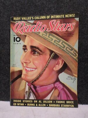 Vintage March 1937 Radio Stars Magazine Nino Martini Cover By Earl Christy