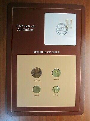 Republic of Chile Coins Sets Of All Nations 4 coin set 1981-1984