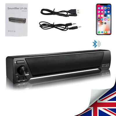 TV Sound Bar Home Theater Subwoofer Soundbar with Bluetooth Wireless / Wired UK