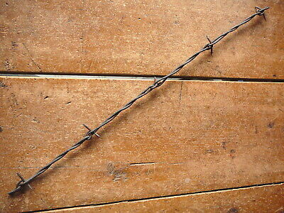 Salisburys Clinched Loop Staple  Round & Flat Oval Lines -  Antique Barbed Wire