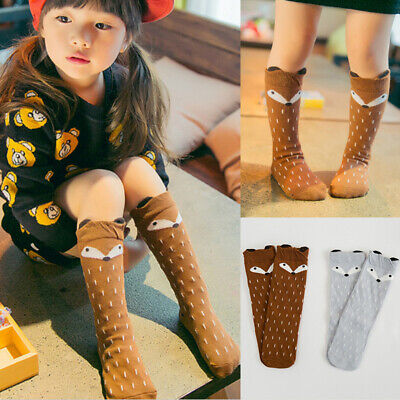 Toddler Baby Kids Girls Cotton Fox Tights Socks Stockings Pant Hosiery Pantyhose
