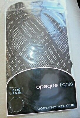 PAIR DOROTHY PERKINS OPAQUE TIGHTS ~ one size ~ COLOUR CHOCOLATE