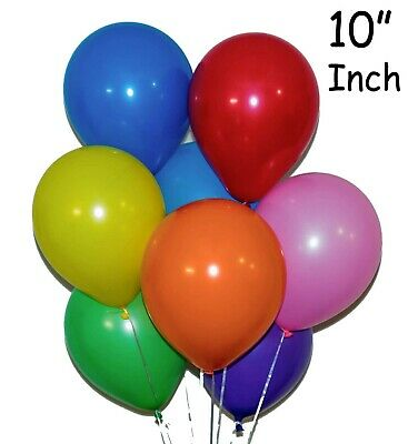 100 Latex PLAIN BALOON BALLONS helium BALLOONS Quality Party Birthday & Wedding