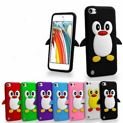 3D Penguin Silicone Gel Case Cover For Apple iPod Touch 5th & 6th Generation