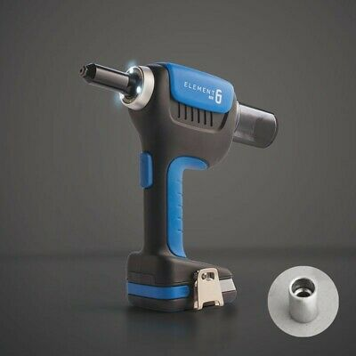 ELEMENT 6 STRUCTURAL BATTERY RIVETER GUN 18V LI-ION (2 x BATTERIES)