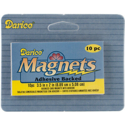"""Adhesive Magnetic Sheets 10/Pkg-2""""X3.5"""", 10757-02"""