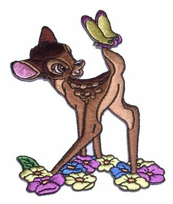 """Disney/'s Bambi /& Thumper 3/"""" Tall Set of 3 Embroidered Patches"""