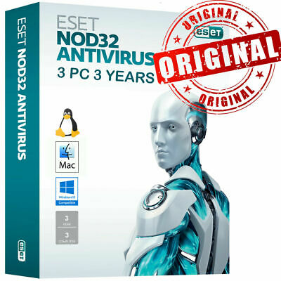 🔥 Eset NOD32 2019 🔥 3 PC 3 Years 🔑 Global Key🔑  Windows MAC Instant Download