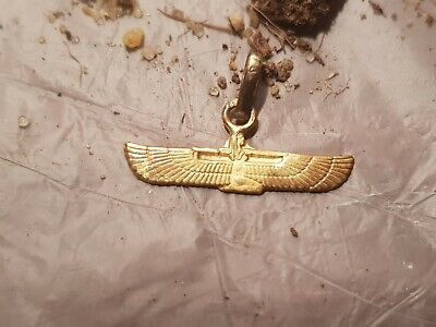 Rare Antique Ancient Egyptian Gold Hanger God Isis Good Health Cure 1790-1680BC