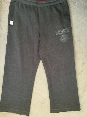 Kangol - Joggers In Dark Grey With Pink Trim & Drawstring With Cut Edges - 14