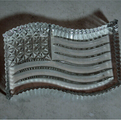 Waterford Crystal Paperweight no box Spirit of America Flag