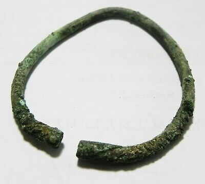 ZURQIEH -as14985- HOLY LAND. IRON AGE  BRONZE BRACELET. 800 B.C