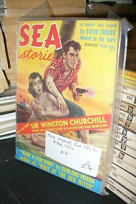 SEA STORIES  WINSTON CHURCHILL US PULP DIGEST No.2 MARCH 1954 [1 ISSUES]