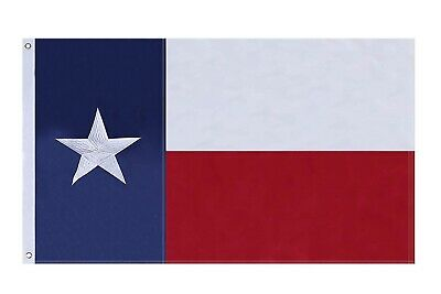 3'x5' ft Texas Flag Sewn Stripes Embroidered Stars Brass Grommets