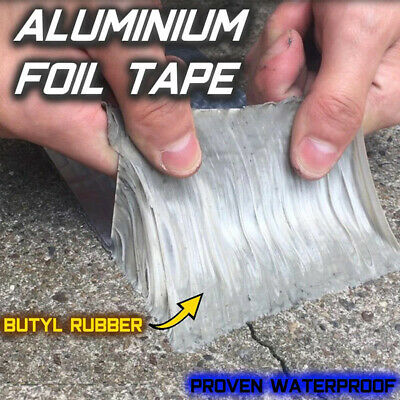 Aluminum Foil Butyl Rubber Tape Super Adhesive Waterproof UV Resistant