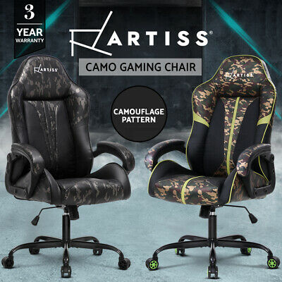 Artiss Gaming Office Chair Computer Chairs Leather Seat Racer Racing Camouflage