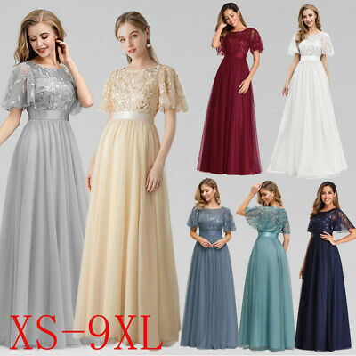 Ever-Pretty Plus Size Long Wedding Party Dress Cocktail Homecoming Prom Gowns UK