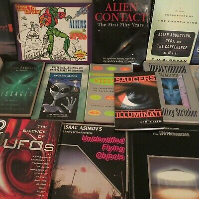 (19) Ufo Soft & Hardcover Book Collection Originals !
