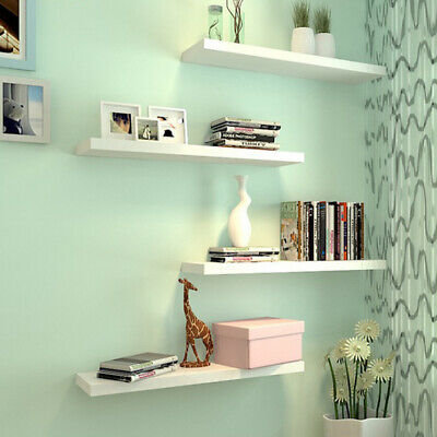 Mdf High Gloss Floating Shelf Shelves Display Unit Wall Mounted Bookcase Wooden