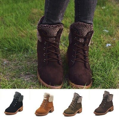 Lace-up Wild Women Lace-up Boots Round Head Martin Boots Frosted Shoes 1 Pair