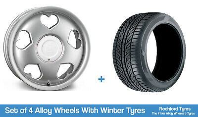 """Tansy Winter Alloy Wheels & Snow Tyres 16"""" For Peugeot Bipper 08-19"""