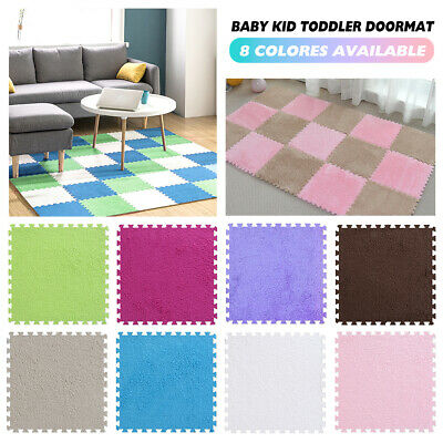 20Pcs Eva Foam Mat Soft Floor Tiles Interlocking Kids Baby Play Mats Gym 30X30cm