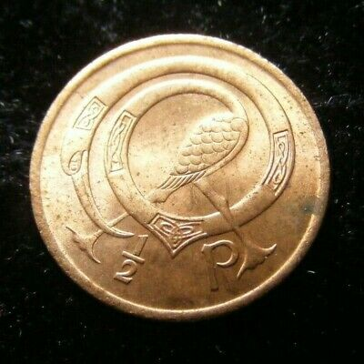 1971 Irish Decimal Half Penny Coin First Year Issued Superb Example Old Ireland