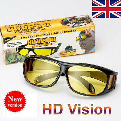 New Polar Tech Night Vision HD Driving Glasses Polarized Yellow Lens Unisex UK