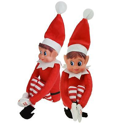 12 Inch Red Naughty Elf Elves Behavin Badly On The Shelf Boy Girl D�cor
