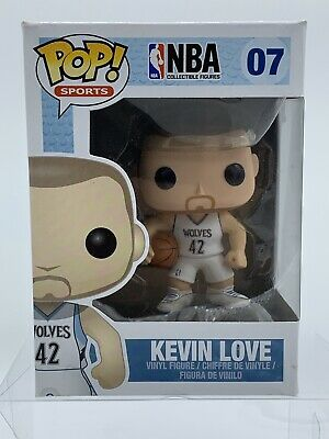 Funko Pop Sports NBA Wolves Kevin Love #07 - Vaulted/Retired W/ FREE PROTECTOR