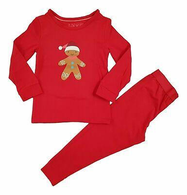 Boys Girls Kids Christmas Xmas Santa PJs Pyjamas Outfit Long PJ Gift Cotton NEW