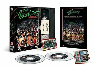 Neuf Blu Ray Film + DVD Disques The Warriors Limité Édition VHS Pack + Plus